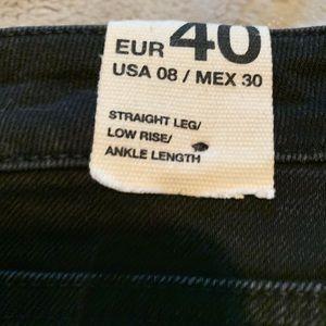 Zara Jeans - NWT, black, Zara trf denim straight leg, low rise